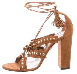 Aquazzura Tulum 105 Suede Sandals