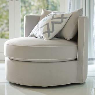 Pottery Barn Teen Round-About Chair, Slip and Frame Sets, Light Gray