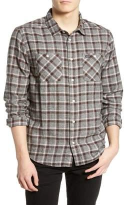 RVCA Hero Plaid Slim Fit Flannel Shirt