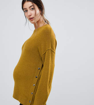 Asos (エイソス) - ASOS Maternity - Nursing ASOS DESIGN Maternity Nursing fluffy sweater with popper sides