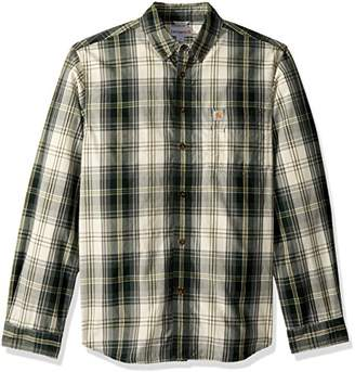 Carhartt Men's M Essential Plaid Button Down Long Sleeve Shirt