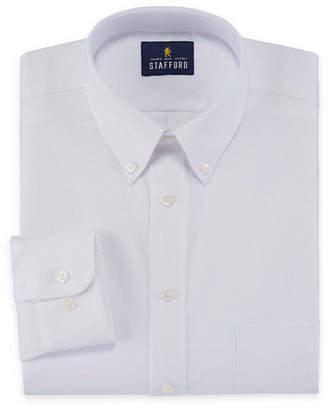 STAFFORD Stafford Travel Wrinkle-Free Stretch Oxford Long-Sleeve Dress Shirt