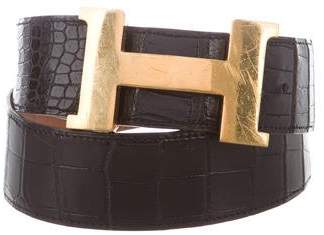 Hermes Vintage Alligator Constance Belt