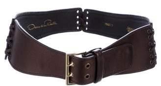 Oscar de la Renta Satin Embellished Belt