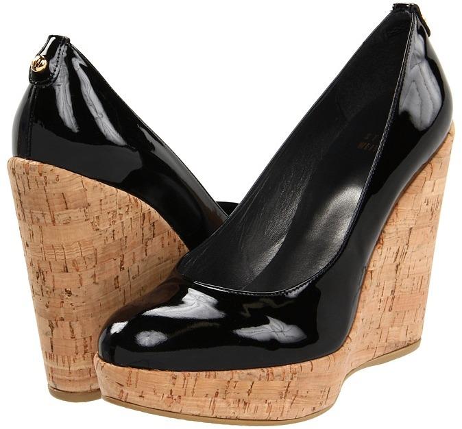 Stuart Weitzman - Corkswoon (Black Patent) - Footwear