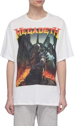 R 13 Megadeth' graphic print oversized T-shirt