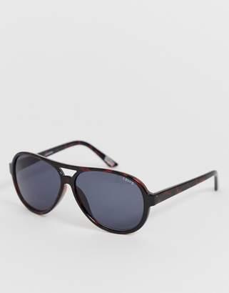 cccb0fb603 Levi s Levis Aviator Shiny Tortoishell Sunglasses with Green Smoke Lens