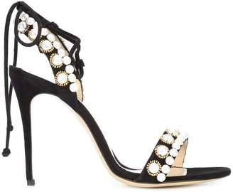 Monique Lhuillier pearl detail stiletto sandals