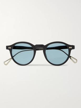 MOSCOT Miltzen-Tt Round-Frame Matte-Acetate And Gold-Tone Sunglasses