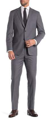 Hickey Freeman Micro Print Classic Fit Wool Suit