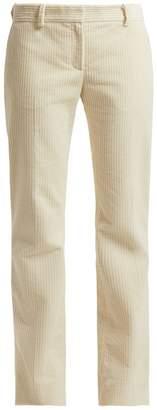 Bella Freud Schoolboy straight-leg cotton-corduroy trousers