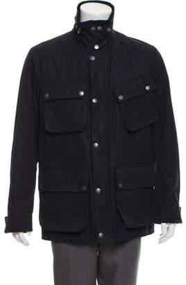 Ralph Lauren Purple Label Suede-Trimmed Military Jacket