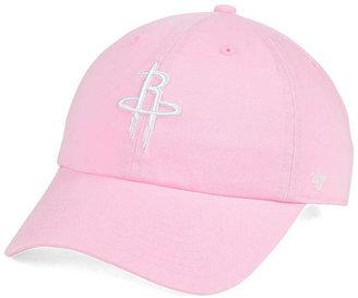 '47 Brand Women's Houston Rockets Petal Pink CLEAN UP Cap $27.99 thestylecure.com
