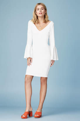 Finders Keepers SIGNS LONG SLEEVE DRESS ivory
