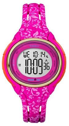 Timex Women's Timex Ironman® Sleek 50 Lap Digital Floral Watch - Pink TW5M03000JT $69.95 thestylecure.com