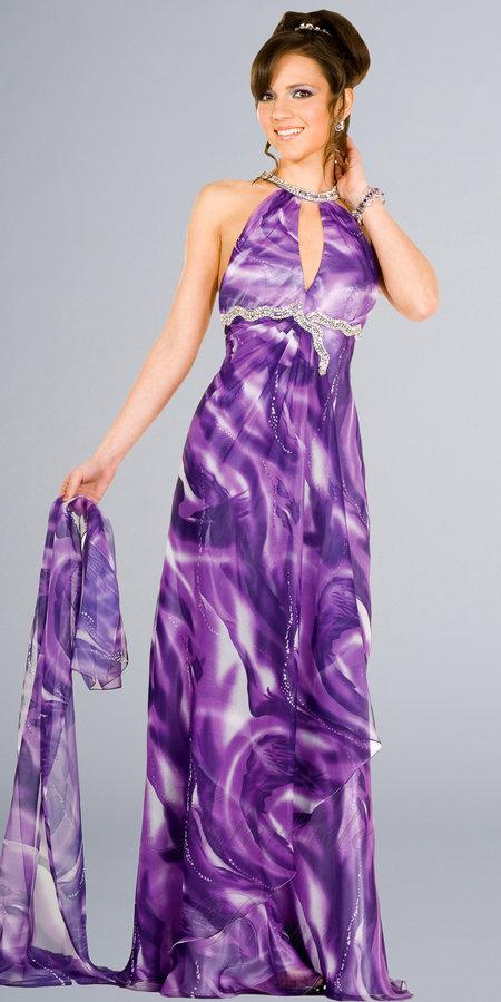 Elegance Purple Print Dresses by Interlude