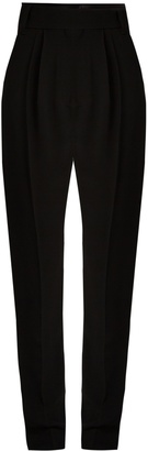 HAIDER ACKERMANN Coronus satin-trimmed cady trousers $918 thestylecure.com
