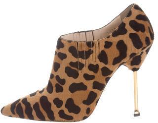 pradaPrada Leopard Print Ankle Boots