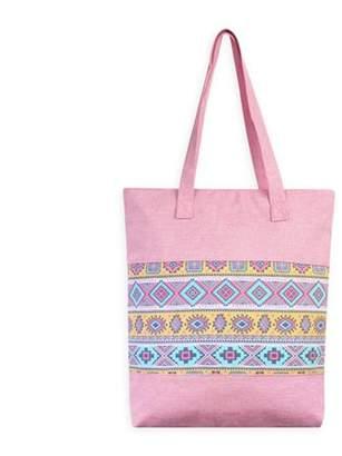 Riah Fashion Black Women's Geometric Shape Tote Bag