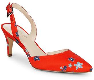 Nine West Women's Epiphany Floral Slingback Heels