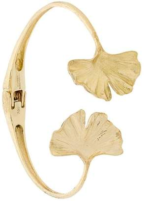 Aurelie Bidermann 18kt yellow gold Ginkgo cuff