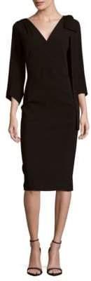 DSQUARED2 V-Neck Bow Overlay Dress