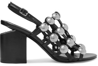 Alexander Wang - Nadia Studded Leather Slingback Sandals - Black $650 thestylecure.com