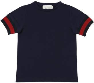 Gucci Cotton Jersey T-Shirt W/ Web Detail