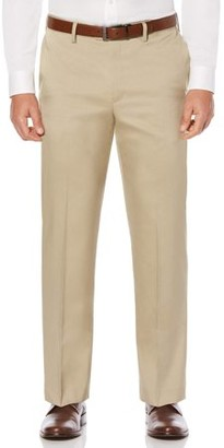 Savane Flat Front Stretch Crosshatch Dress Pant