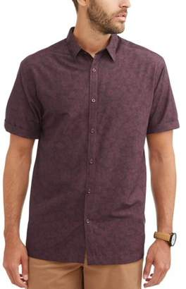 Cafe Luna Men's Short Sleeve Printed Woven Shirt