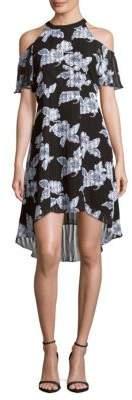 Printed Cold-Shoulder Dress $168 thestylecure.com