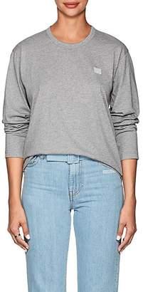 Acne Studios Women's Nash Face Cotton T-Shirt - Gray