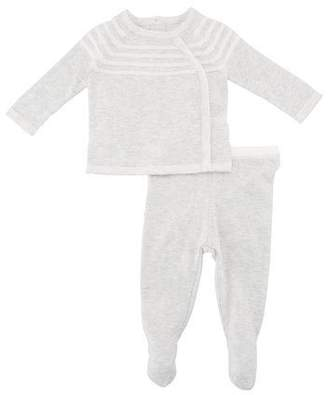 Angel Dear Take Me Home Knit Sweater w/ Footed Leggings, Size Newborn-3 Months