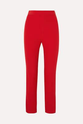 SemSem - Silk-crepe High-rise Slim-leg Pants - Red