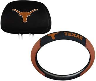 Texas Longhorns Steering Wheel & Head Rest Cover Set