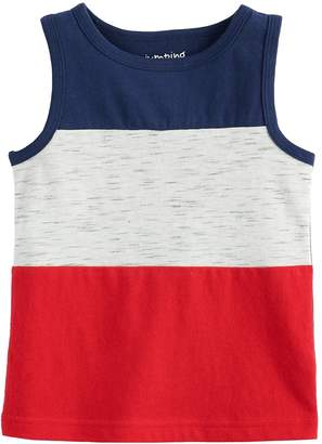 df107d000 Baby Boy Jumping Beans Patriotic Colorblock Tank Top