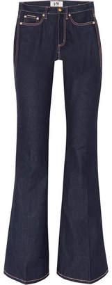 Eytys Oregon Raw High-rise Flared Jeans - Indigo