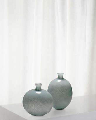 Jamie Young Minx Decorative Vases in Grey Glass Set of 2