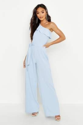 1f5dbfc115bd Blue One Shoulder Jumpsuit - ShopStyle Australia
