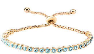 Gabi Rielle 22K Over Silver Enamel Bracelet