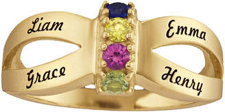 FINE JEWELRY Personalized Engraved Simulated Birthstone Split Shank Ring