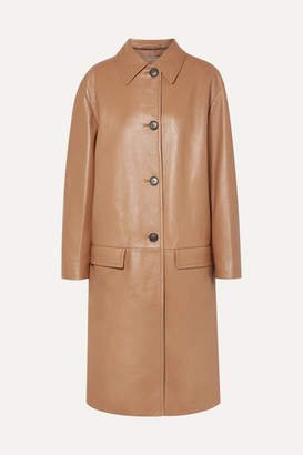 Prada Leather Coat - Camel
