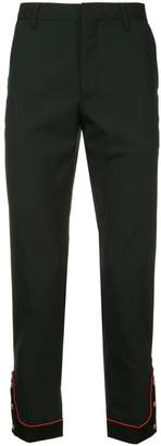 John Undercover contrast cuff stripe trousers
