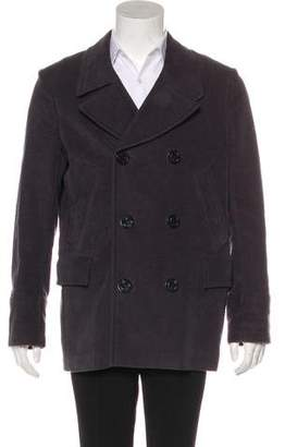 Paul Smith Woven Double Breasted Peacoat