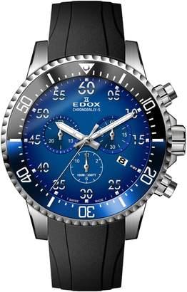 Edox Watches Men's Chronorally-S Swiss Quartz Chronograph Sport Watch, 44mm