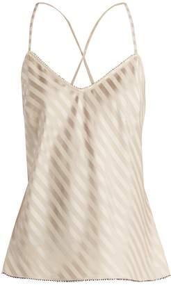 Morgan LANE Lena silk-blend cami top