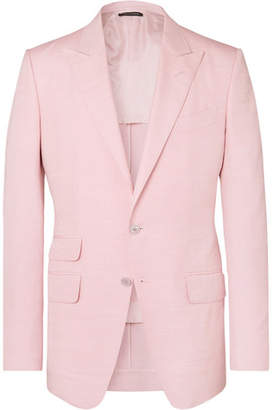 Tom Ford Pastel-Pink O'connor Slim-Fit Silk-Shantung Suit Jacket