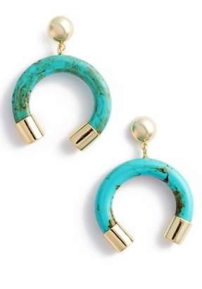 Argentovivo Marbleized Horn Drop Earrings