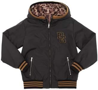 Dolce & Gabbana Patches Nylon Bomber Jacket