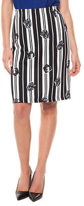 Dex Printed Striped Pull-On Skirt